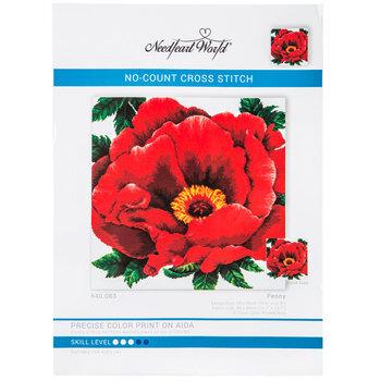Peony No-Count Cross Stitch Kit