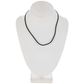"Black Round Velvet Necklace Cord - 17 1/2"""