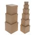 Kraft Nested Square Boxes