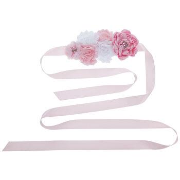 Pink Floral Maternity Sash