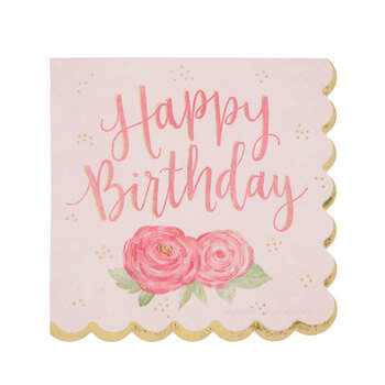 Happy Birthday Princess Napkins - Small