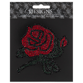 Rhinestone Rose Iron-On Applique