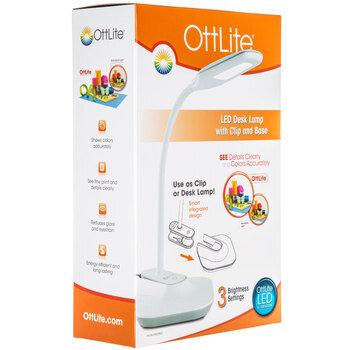 OttLite LED Desk Lamp With Clip & Base