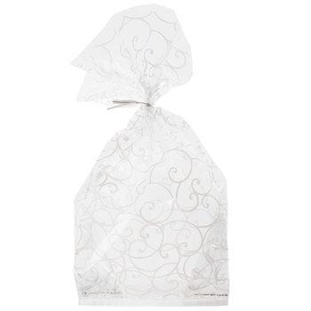 White Swirl Cello Treat Bags