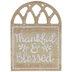 Thankful & Blessed Wood Decor