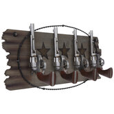 Revolvers Wood Wall Decor With Hooks
