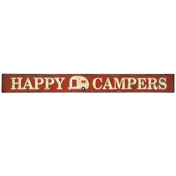 Happy Campers Metal Sign
