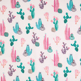 Pink & Green Cactus Apparel Fabric