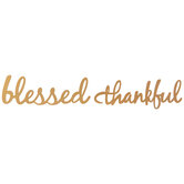 Blessed & Thankful Cutout Wood Plate Decor