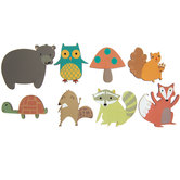 Forest Friends Painted Wood Shapes