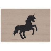 Unicorn Silhouette Rubber Stamp
