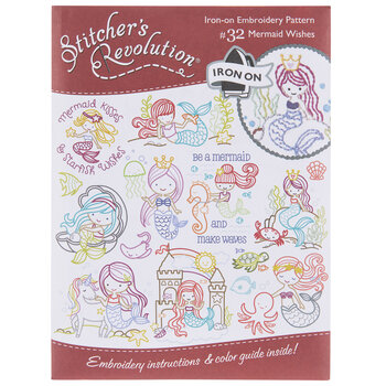 Mermaid Wishes Embroidery Transfer Sheet
