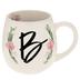 Floral Letter Mug - B