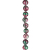 Ruby Dyed Zoisite Round Bead Strand