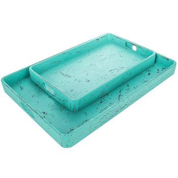 Turquoise Tray Set