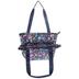 Floral Needlepoint Organizer Tote Bag