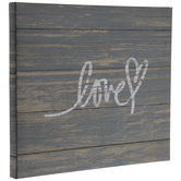 "Love Painted Wood Post Bound Scrapbook Album - 12"" x 12"""