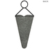 Galvanized Metal Cone Wall Planter - Large