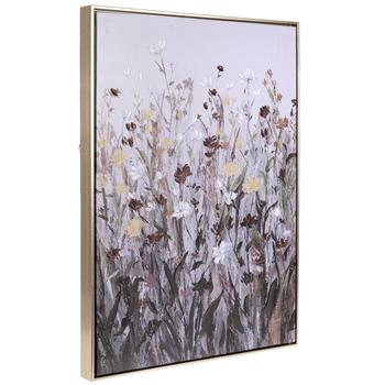 Dark Wildflowers Canvas Wall Decor