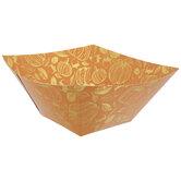Orange & Gold Pumpkin Paper Bowls
