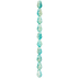 Blue Green Crackle Glass Teardrop Bead Strand