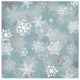 "Silver Foil Snowflake Scrapbook Paper - 12"" x 12"""