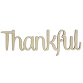 Thankful Wood Cutout - Small