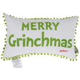 Merry Grinchmas Pom Pom Pillow