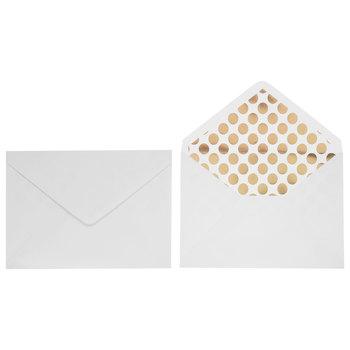 White & Gold Foil Polka Dot Invitations