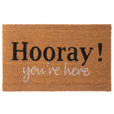 Hooray You're Here Doormat
