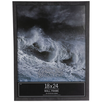 "Black Rough Edge Wood Wall Frame - 18"" x 24"""