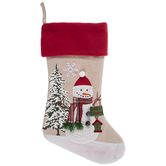 Burlap Snowman Stocking