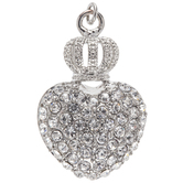 Crystal Heart Pendant With Crown