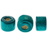 Turquoise Round Wood Beads - 6mm x 9mm
