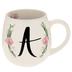 Floral Letter Mug - A