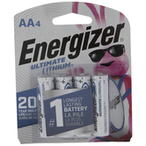 Energizer Ultimate Lithium Batteries - AA