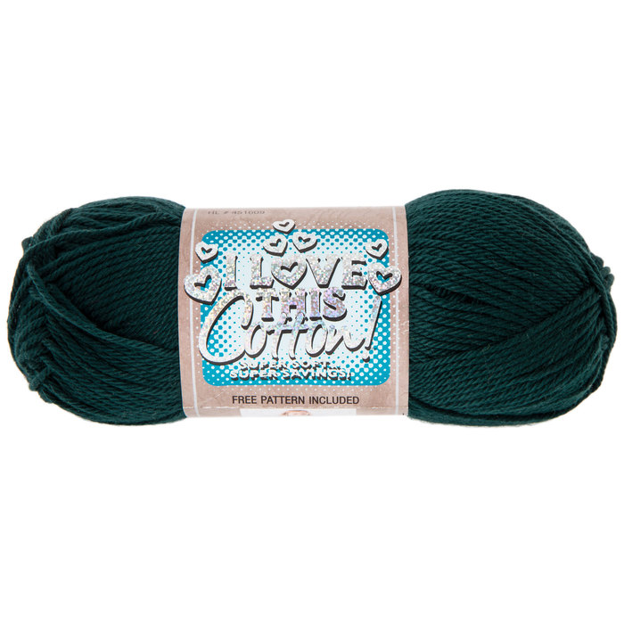 AQUA Ombre Print I Love This Cotton Yarn by Hobby Lobby Super Soft 3 skeins TURQUOISE Pale DENIM
