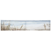 Watercolor Shoreline Textured Canvas Wall Decor