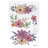 Pink & Purple Floral Removable Stickers