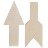 Vintage Sign Broken Arrow Wood Shapes