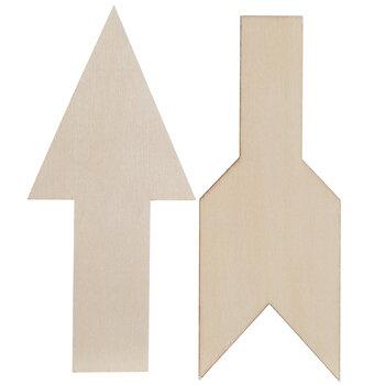 Vintage Sign Broken Arrow Wood Shapes