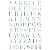 Black & White Chalk Alphabet Stickers