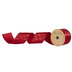 Red Glitter Quatrefoil Wired Edge Satin Ribbon - 2 1/2