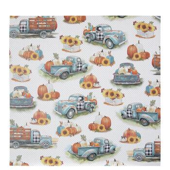 """Trucks & Pumpkins Scrapbook Paper - 12"""" x 12"""""""