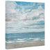 Sandy Beach & Clouds Canvas Wall Decor
