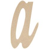 Lowercase Script Wood Letter - A