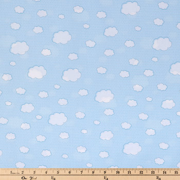 Clouds & Dots Cotton Calico Fabric