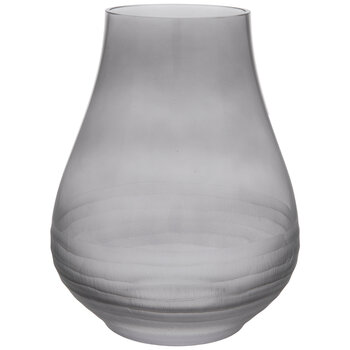 Gray Textured Bottom Glass Vase