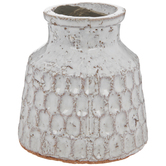 Cream Textured Vase - Small