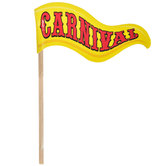 Carnival Flag Cupcake Toppers